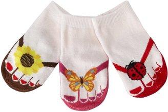 Jazzy Toes Flip Flops Little Sunshine Sock Set-0-12M