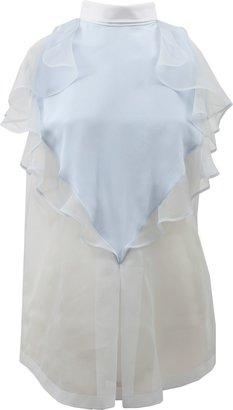 Givenchy Sleeveless Ruffle Front Blouse