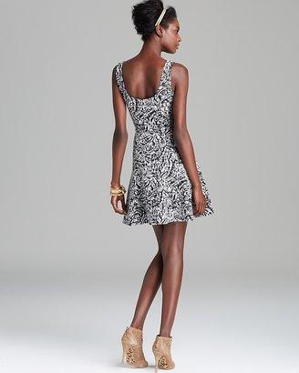 AQUA Dress - Jacquard Ponte Skater