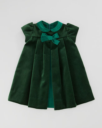 Florence Eiseman Velvet Bow Dress, 3-9 Months