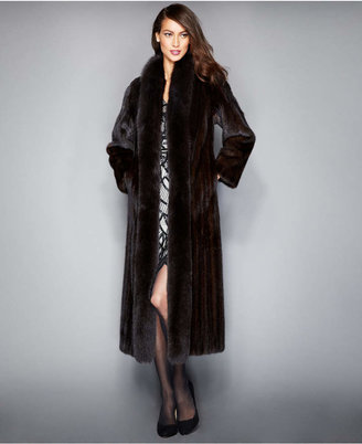 The Fur Vault Fox-Trimmed Mink Maxi Coat $7,995 thestylecure.com