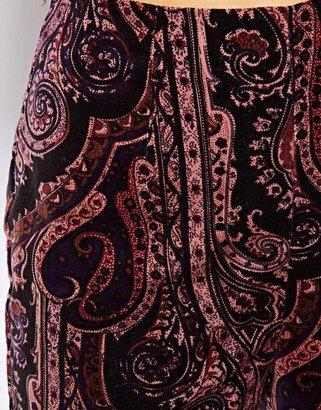 Asos Velvet Shorts in Paisley Print