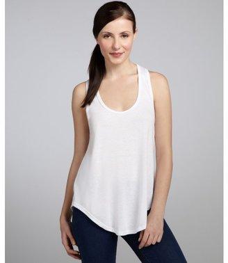 LnA white cotton blend u-neck racerback tank