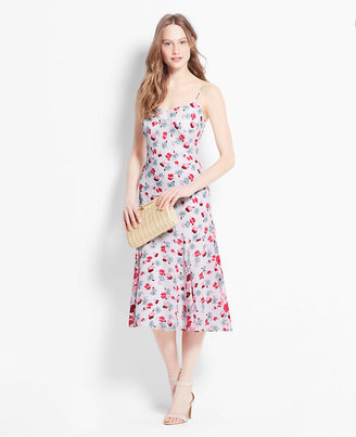 Ann Taylor Floral Spaghetti Strap Slip Dress