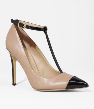 Express Pointed Cap Toe T-Strap Pump