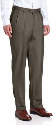Louis Raphael LUXE Men's 100% Wool Pleated Hidden Extension Dress Pant