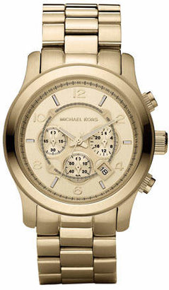 Michael Kors Golden Oversized Runway Watch $275 thestylecure.com