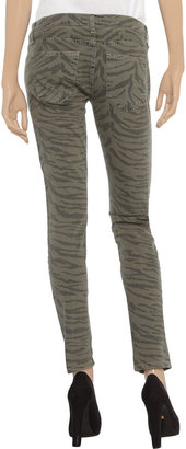 Current/Elliott The Ankle printed mid-rise skinny jeans