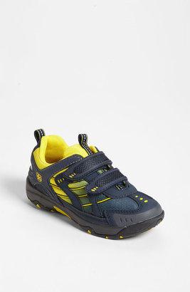 Swissies 'Orion' Sneaker (Toddler, Little Kid & Big Kid) Navy/ Yellow 8US / 25EU