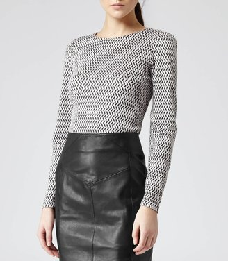 Reiss Delorina GRAPHIC JERSEY TOP