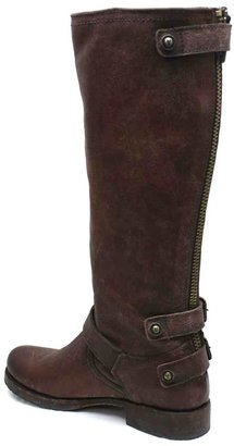 "Frye Veronica Back Zip"" Brown Leather Boot"