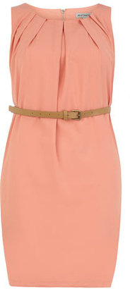 Dorothy Perkins Salmon pleat belt dress