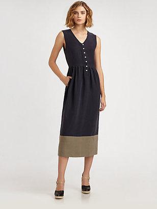 Steven Alan Doyle Linen and Silk Dress