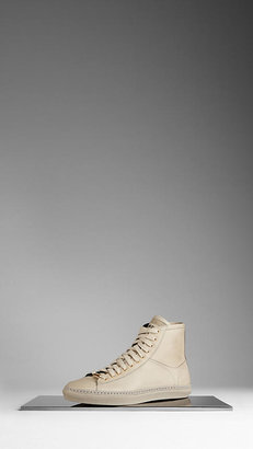 Burberry Leather High-Top Trainers