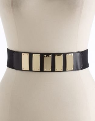 Vince Camuto Plated Stretch Belt