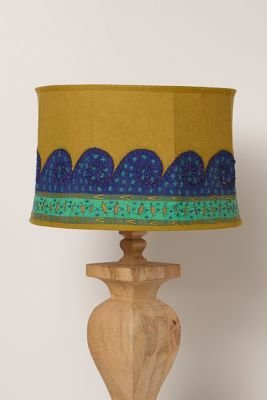 Anthropologie Embroidered Jaffa Lampshade