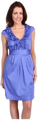 Max & Cleo Cap Sleeve Dress w/ Ruffles (Deep Sky) - Apparel