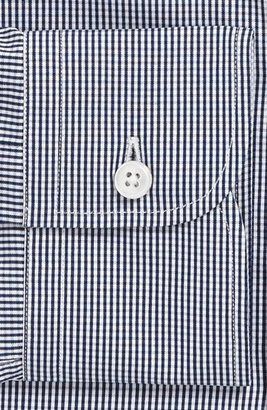 Z Zegna Slim Fit Micro Check Dress Shirt