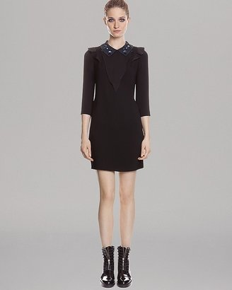 Sandro Dress - Embellished Collar