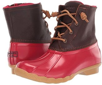 Sperry Saltwater (Tan/Red) Women's Lace-up Boots