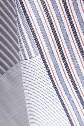 See by Chloe Cutout striped cotton dress
