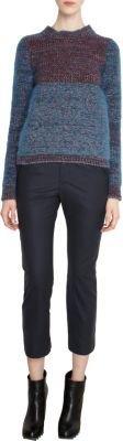 Jil Sander Colorblock Melange Button Front Cardigan