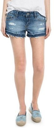MANGO Outlet Bleached Denim Shorts