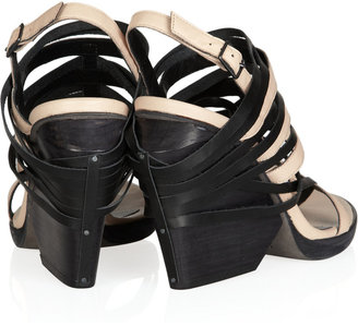 Ld Tuttle The Burn two-tone leather sandals