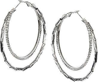 Topshop Rhinestone Double Hoop Earrings