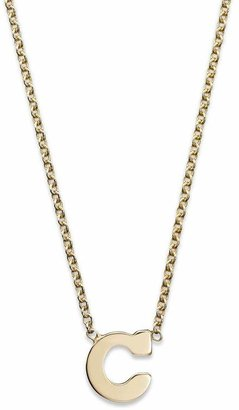 Chicco Zoë 14K Yellow Gold Initial Necklace, 16""