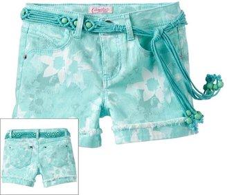 Candies Candie's ® floral belted denim shorts - girls 7-16