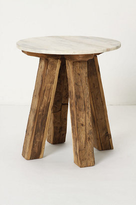 Anthropologie Marble-Topped Side Table By in Brown