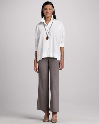 Eileen Fisher Linen-Blend Trousers, Petite
