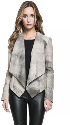 LAMARQUE - Levina Drape Front Jacket In Grey