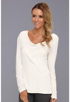 Pendleton L/S Drape Neck Pullover (Ivory) - Apparel