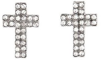 Charlotte Russe Rhinestone Cross Stud Earrings