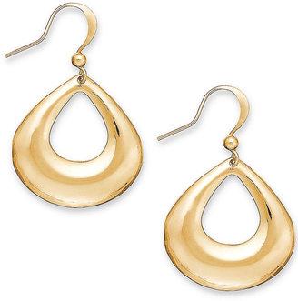 Style&Co. Earrings, Gold-Tone Open Teardrop Earrings