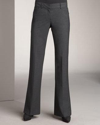 Theory Basic Boot Cut Pants, Charcoal