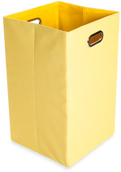 Bed Bath & Beyond GiggleDots Sweets Canvas Folding Laundry Bin in Solid Yellow