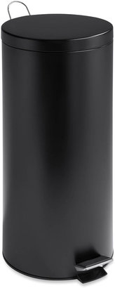 Honey-Can-Do 30L Round Matte Black Trash Can + Bucket