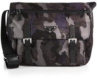 Prada Tessuto Camouflage Messenger Bag
