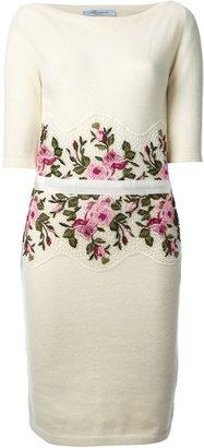 Blumarine rose embroidered dress