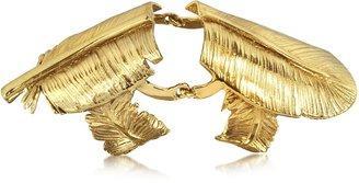 Bernard Delettrez Bronze Articulated Feather Ring