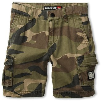 Quiksilver Sue Fley Camo Walkshort (Toddler/Little Kids) (Fatigue Green) - Apparel