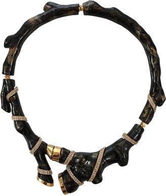 Kara Ross Organic Coral Resin Collar Necklace