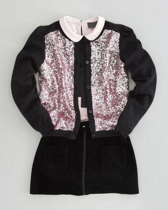 Fendi Sequin Cardigan, Sizes 6-8