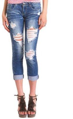 Charlotte Russe Machine Jeans Destroyed Boyfriend Jean