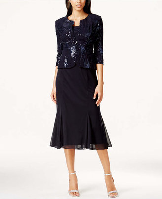 Alex Evenings Sequined A-Line Midi Dress and Jacket $189 thestylecure.com
