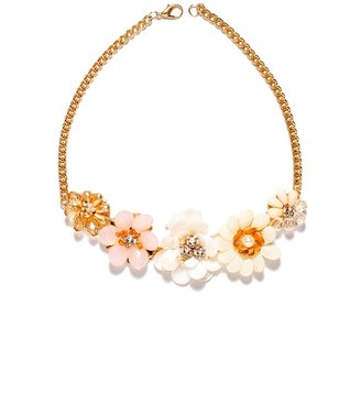 The Limited Shell Floral Statement Necklace