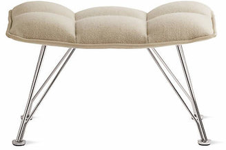 Design Within Reach Jehs and Laub Lounge and Ottoman in Leather with Wire Base
